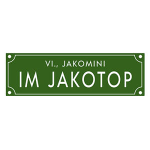 Straßenschild IM JAKOTOP
